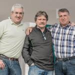 Arturo e Massimo con l'Architetto Giuseppe Esposito che ha realizzato il negozio APPROACH.